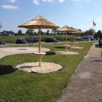Rieten parasol - project Terherne jachthaven 3