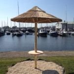 Rieten parasol - project Terherne jachthaven 44