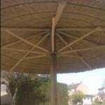 rieten parasol 400 cm