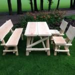 houtcreatief rustiek tuinset
