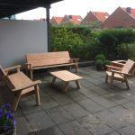 houtcreatief loungeset, tuinset, tafel, stoel, bank