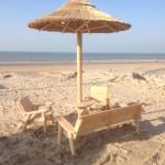 rieten parasol strand zandvoort