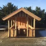overkapping, tuinhuis, veranda met rieten dak