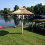 rieten parasol 220 cm