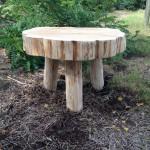 tafel van boomstamschijf