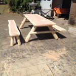 picknicktafel met losse bank