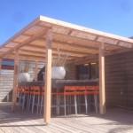 Overkapping, luifel, veranda voor uw tuin met hout en riet 8