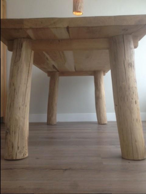 eiken eetkamertafel, landelijke meubels - Hout Creatief » Hout Creatief