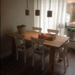 eiken eetkamertafel, landelijke meubels