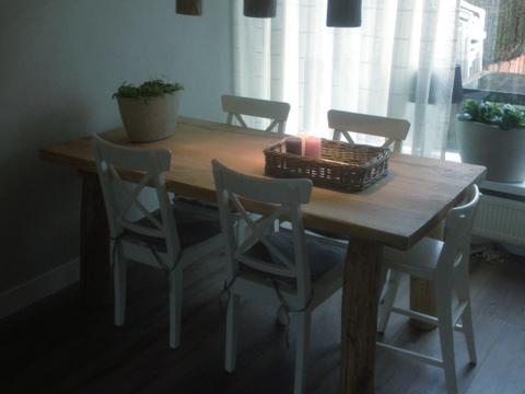 eetkamertafel eiken, landelijke meubels