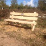 houtcreatief eikenhouten tuinbank