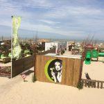 rieten parasols vierkant belgië strand
