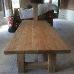 grote eikenhouten tafel