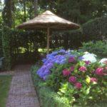 rieten parasol doorsnee 300 cm